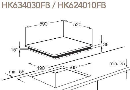 כיריים חשמל AEG HK634030FB - אלקטריק דיל ElectricDeal
