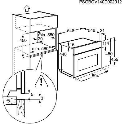 תנור אפייה AEG KE8404101M - אלקטריק דיל ElectricDeal