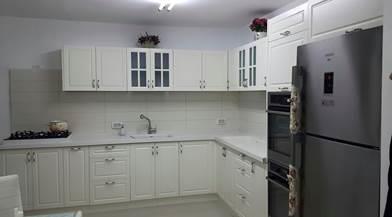 מטבח לבן מעוצב - A.B DESIGN