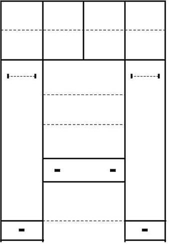 ארון 4 דלתות LIRAN - InStyle