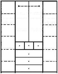 ארון 4 דלתות CRAZY - InStyle