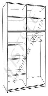 ארון 2 דלתות ILAN  - InStyle