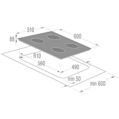 כיריים דומינו אינדוקציה מבית גורניה IQ734USC - חשמל נטו