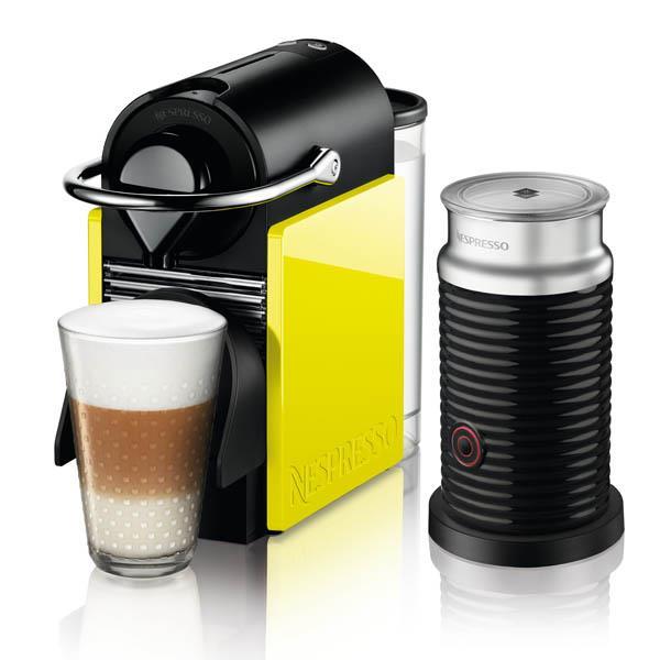 מכונת קפה נספרסו בצבע שחור וצהוב לימון דגם C60 - חשמל נטו