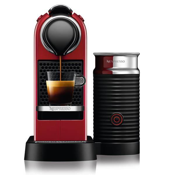 מכונת קפה  CITIZ&MILK בצבע אדום מבית NESPRESSO דגם C122 - חשמל נטו