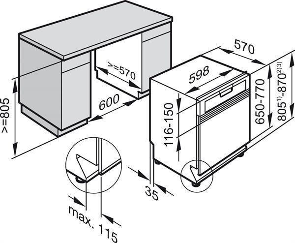מדיח כלים חצי אינטגרלי מבית MIELE דגם G4203SCI - חשמל נטו