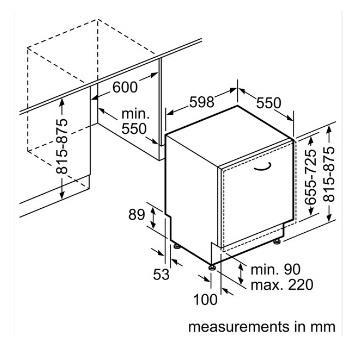 מדיח אינטגרלי מבית BOSCH דגם SMV45MX00E - חשמל נטו