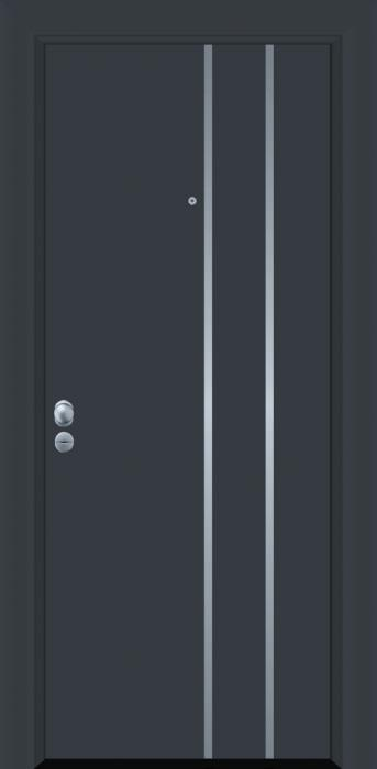 דלת כניסה דגם INOX-4103 - פאנלוס