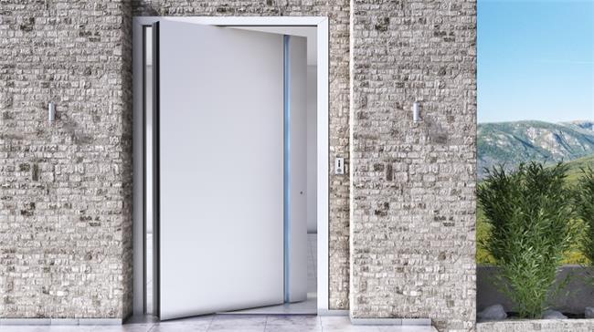 דלת כניסה דגם 1020 לבן - טקני דור