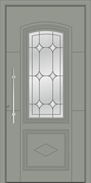 דלת כניסה דגם 1100-RAL-7042 - טקני דור