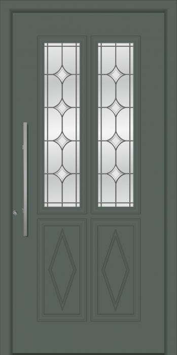 דלת כניסה דגם 1111-RAL-7011 - טקני דור