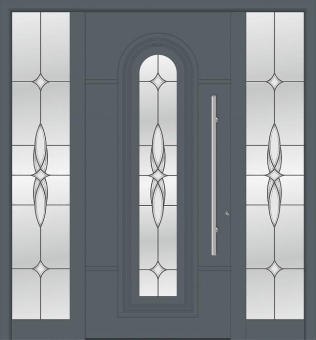 דלת כניסה 1106-2-MISA-RAL-7012 - טקני דור