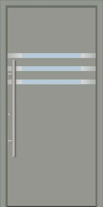 דלת כניסה 1290-RAL-7042 - טקני דור