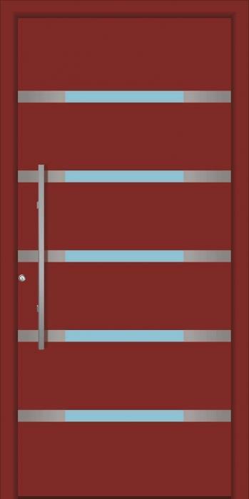 דלת כניסה 1295-RAL-3009 - טקני דור