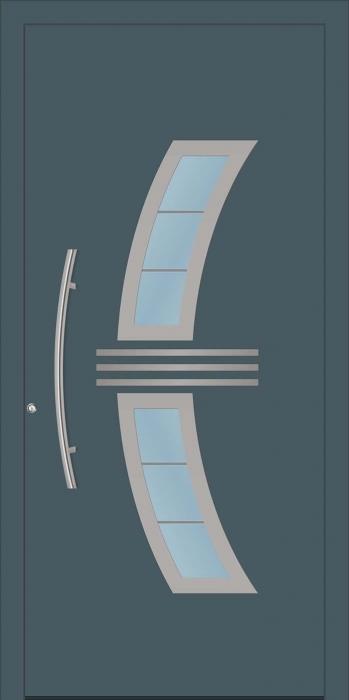 דלת כניסה 1320-NEW-RAL-7011 - טקני דור