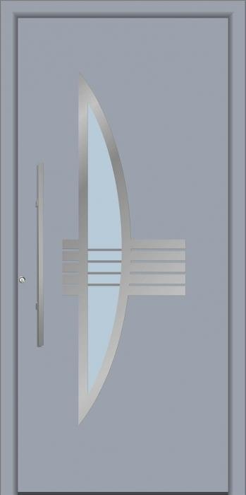דלת כניסה 1330-RAL-7040 - טקני דור