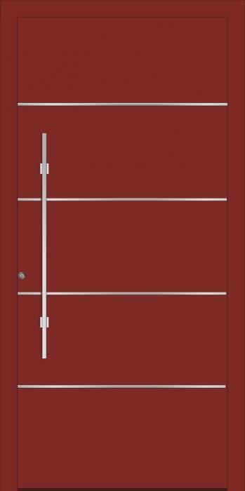 דלת כניסה 1385-RAL-3009 - טקני דור