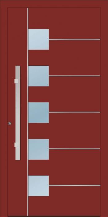דלת כניסה 1420-RAL-3009 - טקני דור