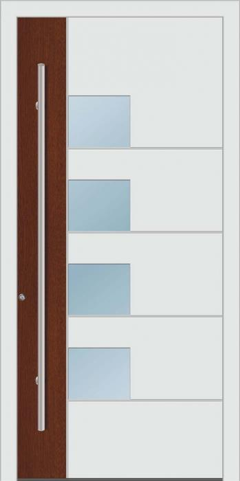 דלת כניסה 1480-white-wood - טקני דור