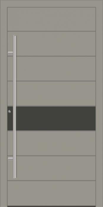 דלת כניסה 1485-RAL-7030–RAL-7022 - טקני דור