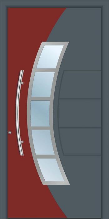 דלת כניסה 1541-RAL-7011-3009 - טקני דור