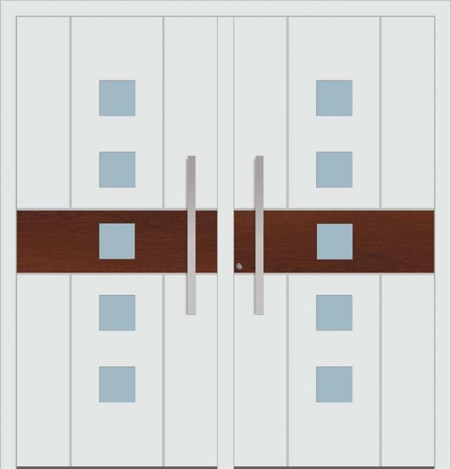 דלת כניסה 1465-DOUBLE-white-wood - טקני דור