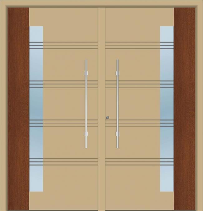 דלת כניסה 1561-NEW-RAL-1019-WOOD - טקני דור