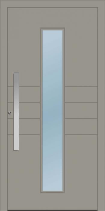 דלת כניסה 1170-MISO-RAL-7030 - טקני דור