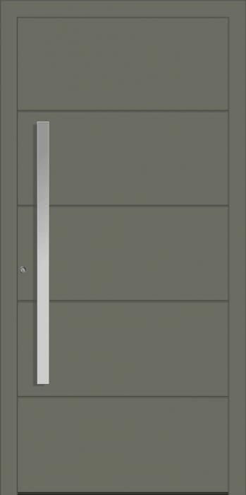 דלת כניסה 1654-RAL-7012 - טקני דור