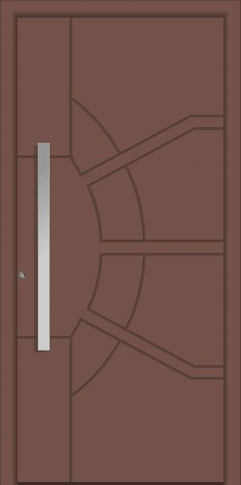 דלת כניסה 1765-RAL-8025 - טקני דור
