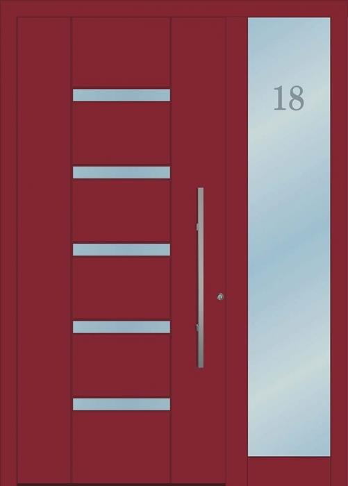 דלת כניסה 1717-MISO-RAL-3004 - טקני דור
