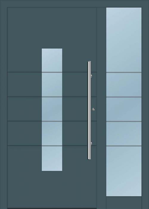 דלת כניסה 1155-MISO-RAL-7026 - טקני דור