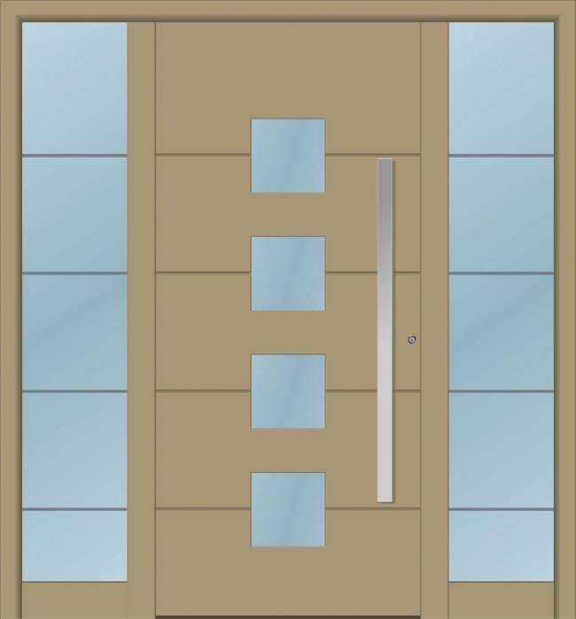 דלת כניסה 1160-2-MISA-RAL-1019 - טקני דור