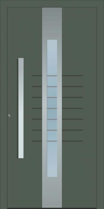 דלת כניסה 1210-RAL-7010 - טקני דור