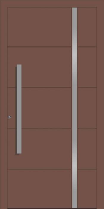 דלת כניסה 1736-ral-8025 - טקני דור