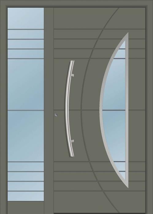 דלת כניסה 1501-MISO-RAL-7003 - טקני דור