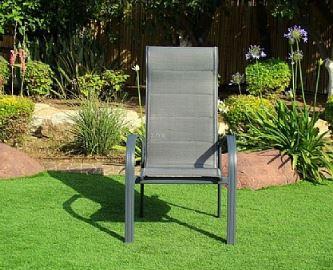 סט ישיבה + 4 כיסאות בלאק - GARDENSALE
