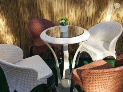 שולחן בר גבוה ו-4 כיסאות אגם - GARDENSALE
