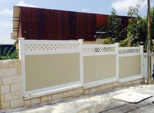 גדר VINYL PVC דגם גלבוע צבעוני גובה 1.35 - GARDENSALE