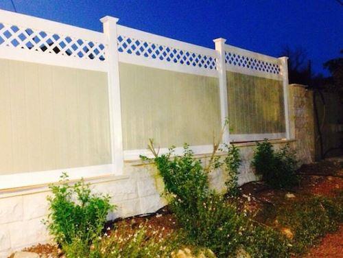 גדר VINYL PVC גלבוע צבעוני גובה 1.80 - GARDENSALE
