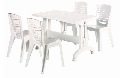 שולחן + 4 כיסאות דגם שיר - GARDENSALE