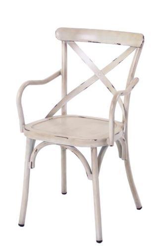 כיסא אלומיניום עם ידיות דגם וינטג'  - GARDENSALE