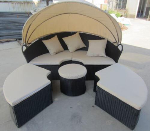 מיטת שיזוף עגולה דגם מדריד - GARDENSALE