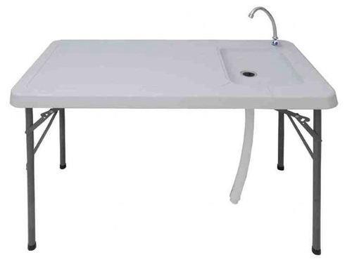 שולחן פלסטיק מתקפל + ברז מים וכיור - GARDENSALE