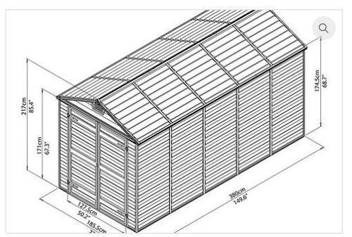 מחסן גינה 12*6 פלרם - GARDENSALE