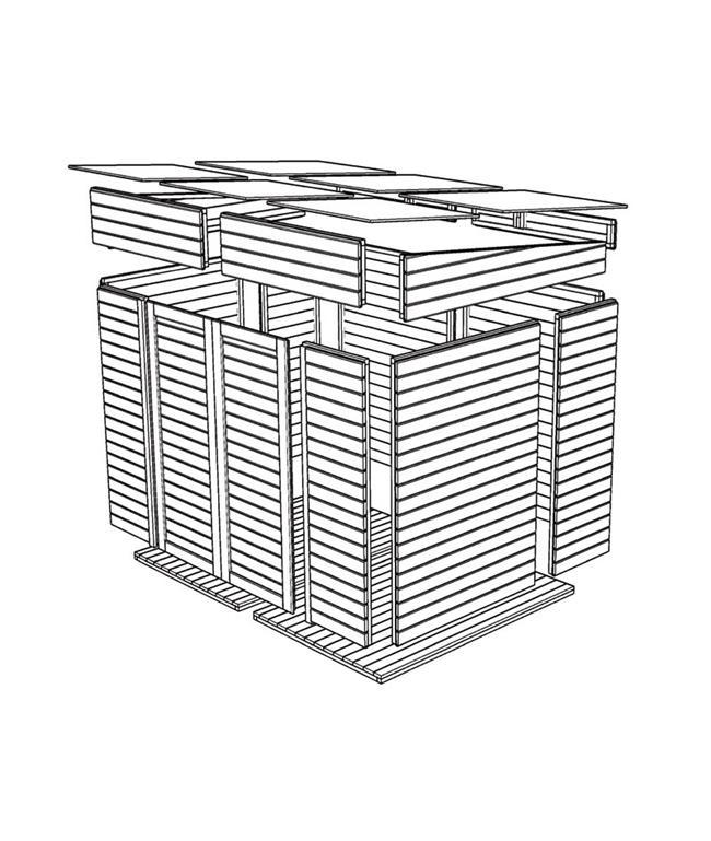 מחסן עץ טופרוסול 2.51X2.00 TIM 4 - GARDENSALE