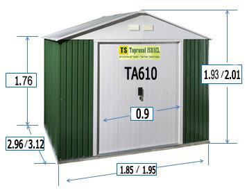 מחסן מתכת טופרוסול - TA69  - GARDENSALE