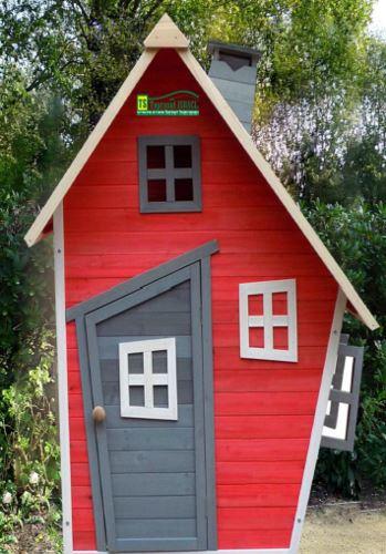 בית ילדים מעץ דגם פרפר - GARDENSALE