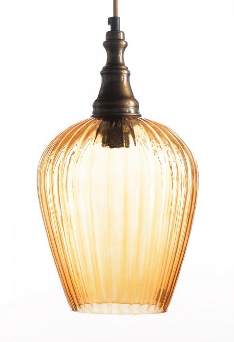 מנורה לתלייה מזכוכית AM260 אמבר - הגלריה המקסיקנית