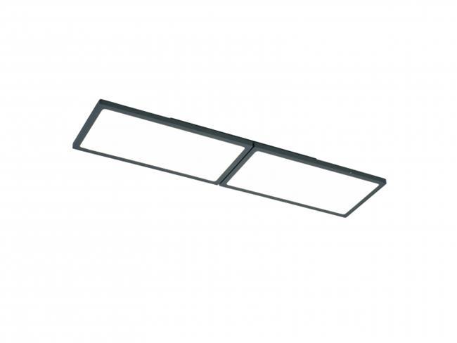 מנורת תקרה LED 30W ניו-סקרין שחור - תמי ורפי תאורה מעוצבת